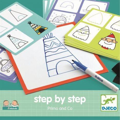 Desenează pas cu pas, primo Djeco