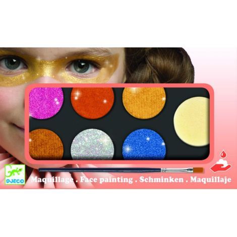 Culori Make-Up Non Alergice Djeco, Metalic imagine