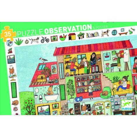 Puzzle observație Djeco Casa