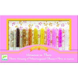 Set confecţionat bijuterii Djeco, mărgele flori