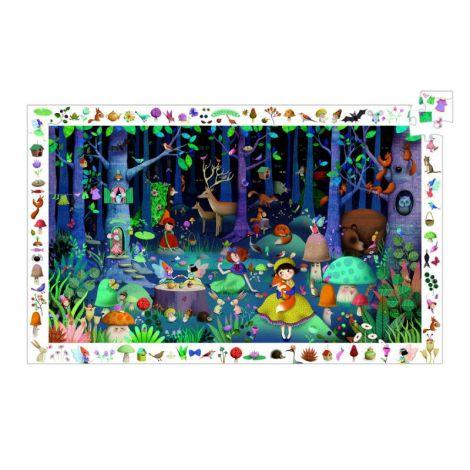 Puzzle observație Djeco Pădurea fermecată