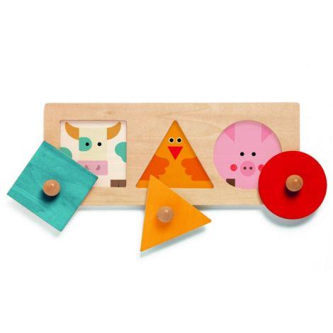 BigaBasic Djeco, puzzle forme geometrice
