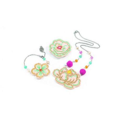Set bijuterii brodate, Flori Djeco