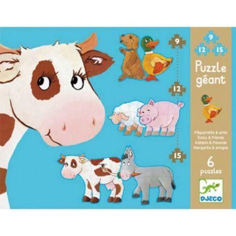 Puzzle gigant Djeco animale de fermă