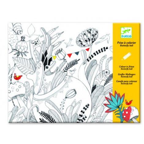 Planșă tablou desen Balul florilor