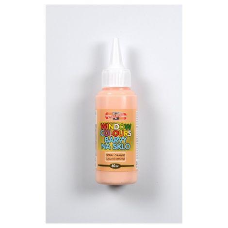 Culori sticla 60 ml - Portocaliu Coral