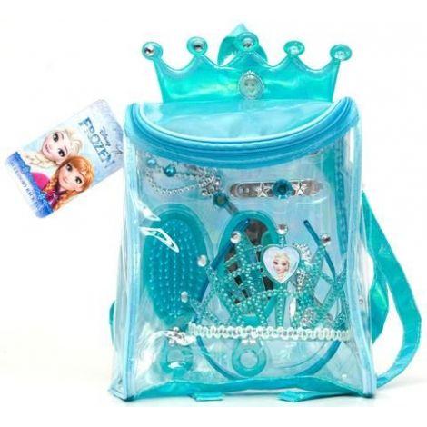 Rucsac cu accesorii -frozen: conținut: rucsac, diadema, bagheta, perie, oglinda, bratara si 2 agrafe de par