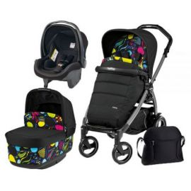 Carucior 3 in 1, Peg Perego, Book Plus 51 S, Black, Pop-Up Elite