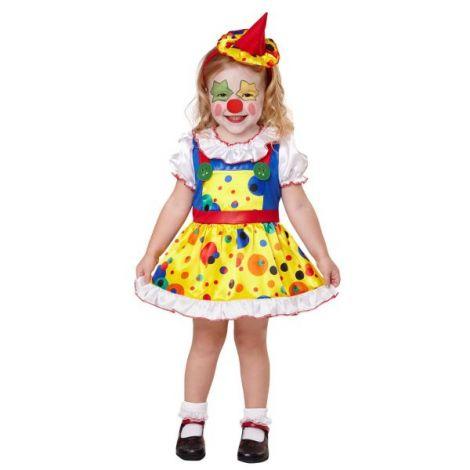 Costum clown fetita 4-5 ani