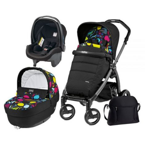 Carucior 3 In 1, Peg Perego, Book Plus S, Black, Completo Elite
