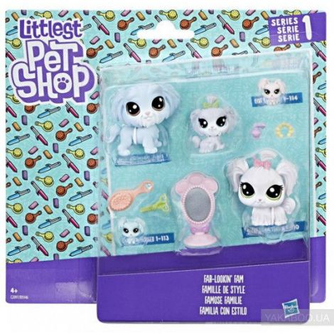 Littlest pet shop set familie de animalute hbb9346