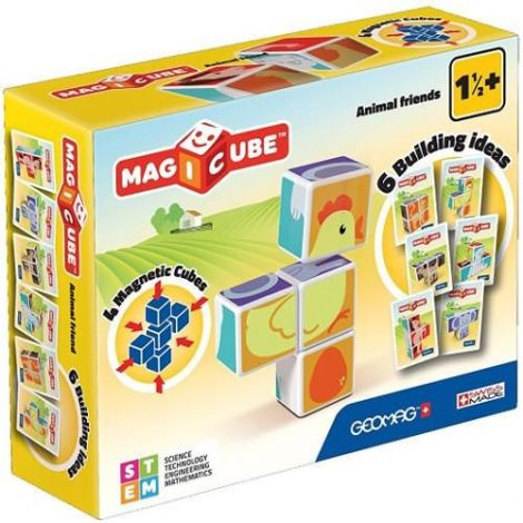 Set Constructie Magnetic Magicube Animale Prietenoase