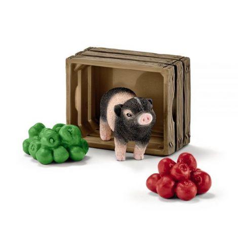 Set figurina schleich porc pitic cu mere sl42292