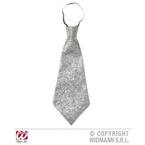 Cravata lurex argintie