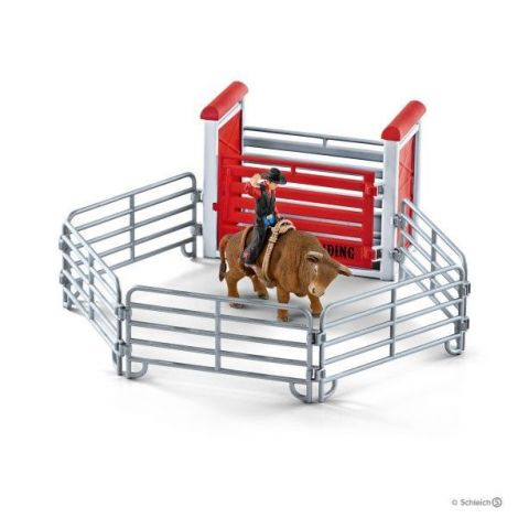 Set figurine schleich rodeo cu taur sl41419