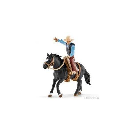 Figurina schleich calaret rodeo cu un bronco sl41416