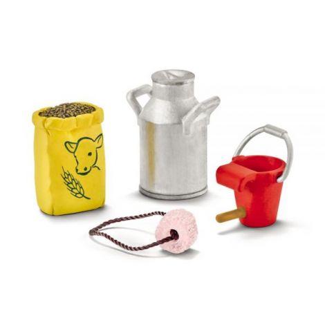 Set accesorii schleich hrana pentru vaca si vitel sl42291