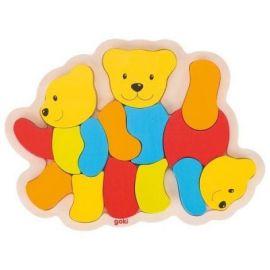 Puzzle din lemn Trei Ursuleti