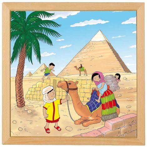 Puzzle Minunile Lumii - Piramidele - Educo