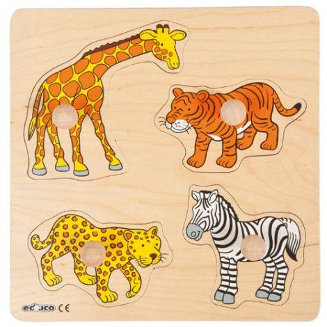 Puzzle Cu Piese Mari Animale Din Africa - Educo imagine