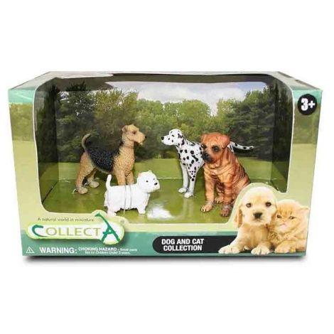 Set 4 Figurine Catei si Pisici Collecta