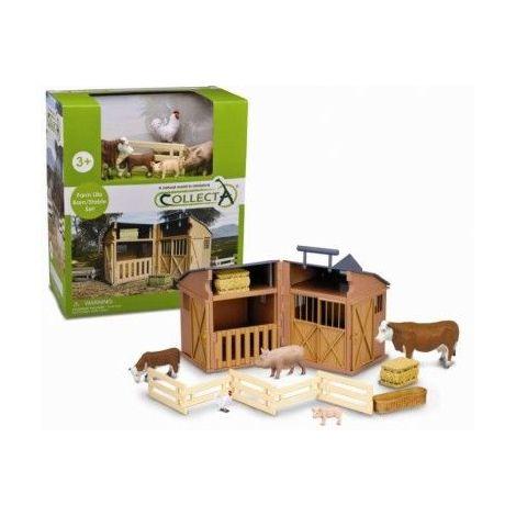 Set 5 figurine Hambar cu animale si accesorii Collecta