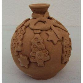 Glob ceramica pentru brad model 4 - 11x9cm, 230gr