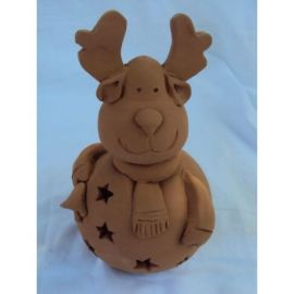 Decoratiune ceramica pentru masa ren - 18x10cm, 400gr