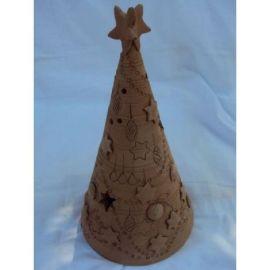 Decoratiune ceramica pentru masa brad - 18x10cm, 400gr