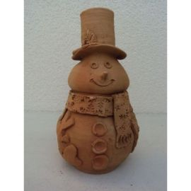 Decoratiune ceramica pentru masa om zapada 2 - 18x10cm, 400gr
