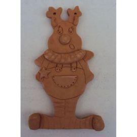 Decoratiune ceramica pentru perete ren - 20x12cm, 180gr