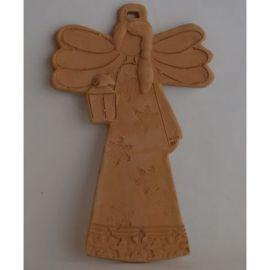 Decoratiune ceramica pentru perete inger 1 - 20x14cm, 230gr