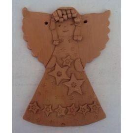 Decoratiune ceramica pentru perete inger 3 - 20x15cm, 280gr