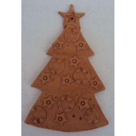 Decoratiune ceramica pentru perete brad 1 - 19x12cm, 180gr