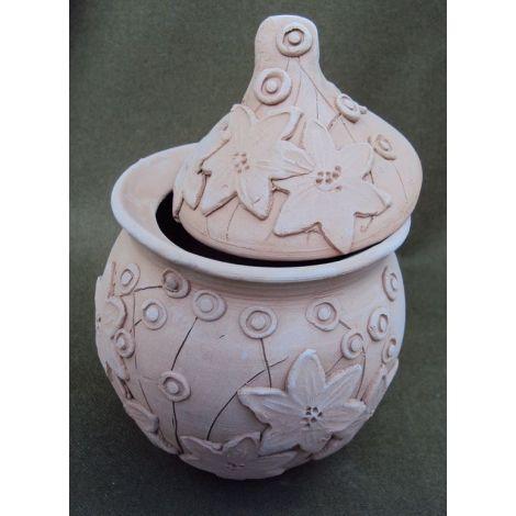 Vas ceramica cu capac model mar