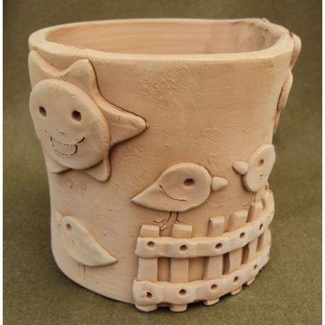 Ghiveci ceramica cu pasari