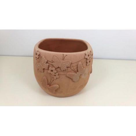 Ghiveci ceramica cu fluturasi