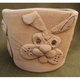 Ghiveci ceramica cu iepuras