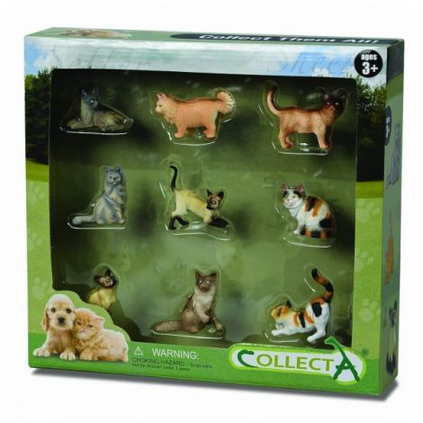 Set 9 figurine Catei si Pisici Collecta