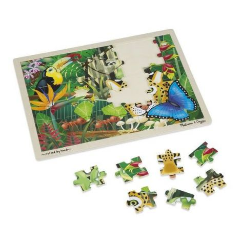 Puzzle din lemn padurea tropicala Melissa and Doug