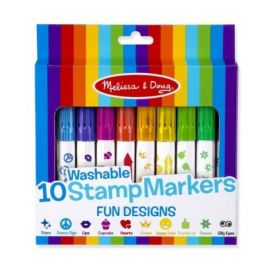 Set 10 stampile marker lavabile Fun Melissa and Doug