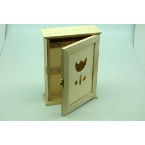 Dulapior mic lemn pentru chei, decupaj lalea
