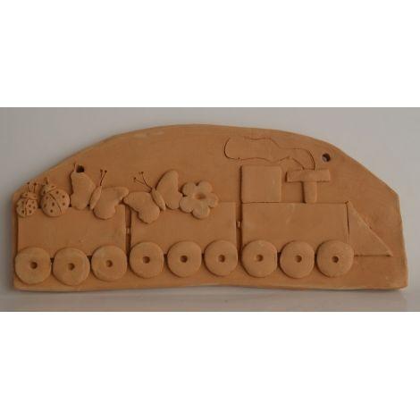 Decoratiune ceramica pentru perete trenulet