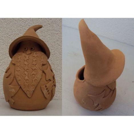 Decoratiune ceramica pentru masa mos craciun 1 - 19x10cm, 380gr