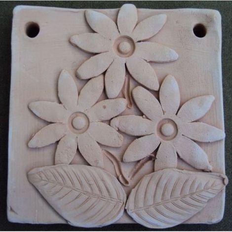 Placuta ceramica cu design crizanteme
