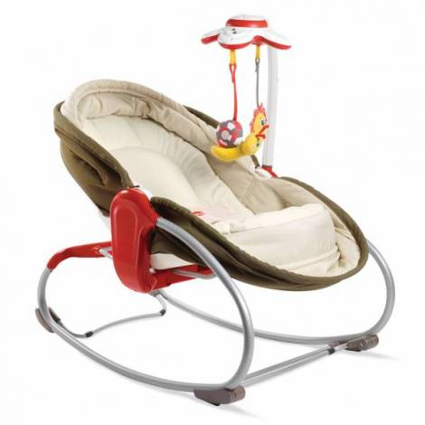 Sezlong 3 in 1 Rocker Napper Maro-Bej, Tiny Love