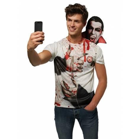 Costum tricou selfie vampir