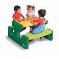 Litlle Tikes - Masa picnic cu 2 banchete pt. 6 copii (verde