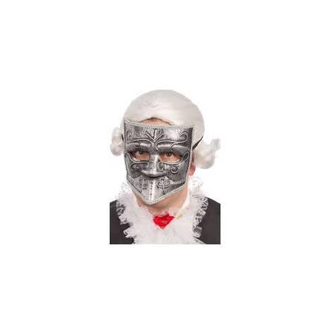 Masca bautta argintie - marimea 140 cm