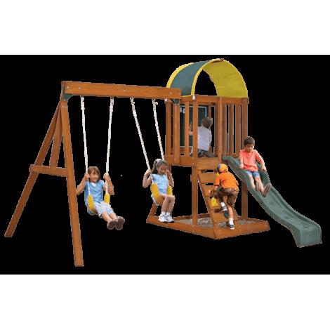 Spatiu de joaca din lemn Ainsley cu leagane Kidkraft